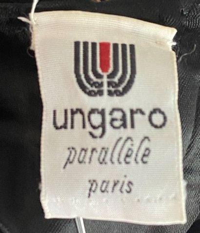 UNGARO Parallele Paris Black pearl lace bustier Size 38