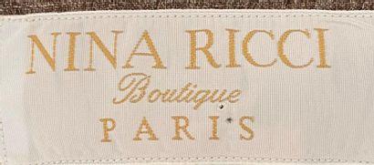 NINA RICCI Boutique Paris  Brown linen jacket - size 40