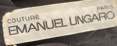 EMMANUEL UNGARO Couture Paris Robe longue en crêpe noir Taille 36