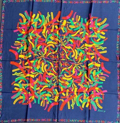 IWC 1868-1993 SCHAFFHAUSEN Silk scarf