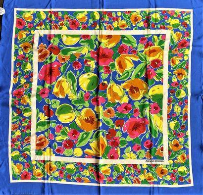 JEAN LOUIS SCHERRER Paris Silk crepe scarf...
