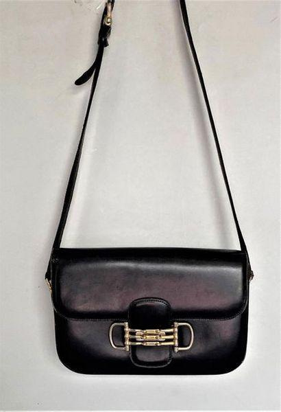 CELINE Paris Shoulder bag in black box with...