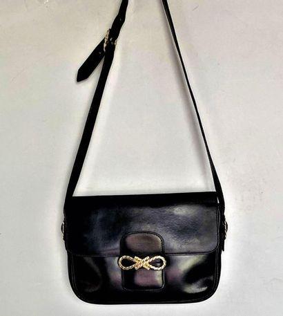 CELINE Shoulder bag in black box with gold...