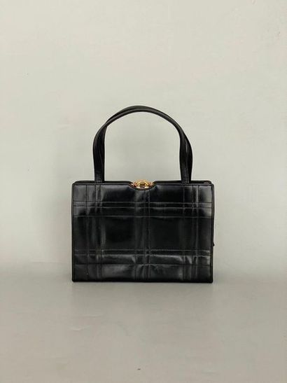 CARVIL Handbag with 2 handles in black stitched...