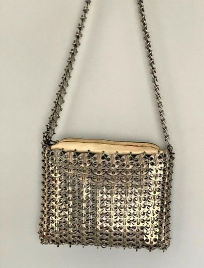 PACO RABANNE Shoulder bag with perforated...