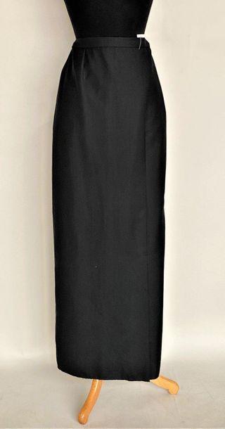 BALENCIAGA Black composite long skirt Size...
