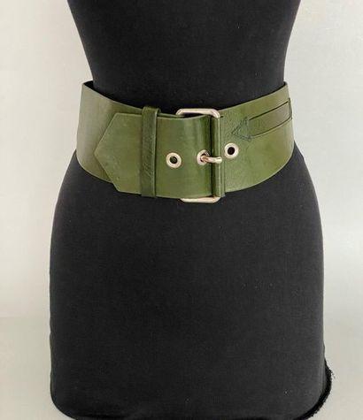 CHANTAL THOMASS Leather belt olive green...