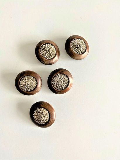 YVES SAINT LAURENT Lot of 5 sewing buttons...