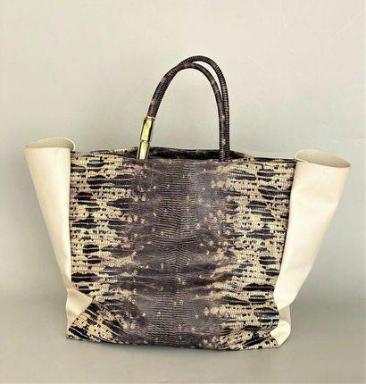 LANVIN Paris  Large shopping bag with two...