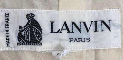 LANVIN Paris Jacket in light green and light cream checked wool Size 44  (small...