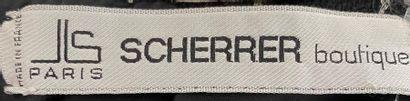 SCHERRER Boutique Black woollen coat dress with white stripe Removable collar and...