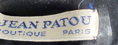 JEAN PATOU Boutique Paris Black velvet pale skirt Size 42