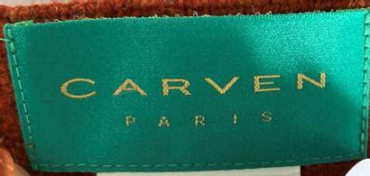 CARVEN Paris Skirt in brick-blue woolblend Size 36