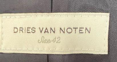 DRIES VAN NOTEN Jacket in ramie and black cotton size 38