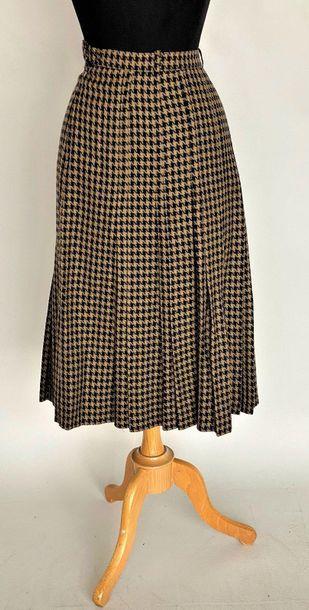 SCHERRER Boutique jupe plissée pied de poule...