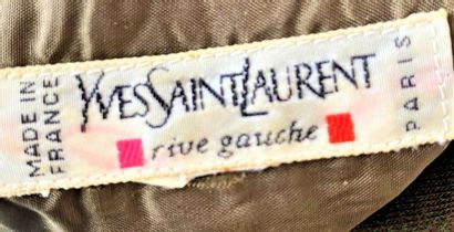 YVES SAINT LAURENT circa 70 Brown jersey blouse dress Size 38 (small hook)