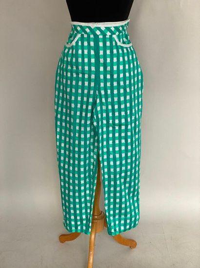 LOUIS FERAUD SET Pantalon en coton à carreaux...