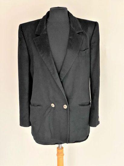 Veste d'Homme crosée en cachemire noir Taille...