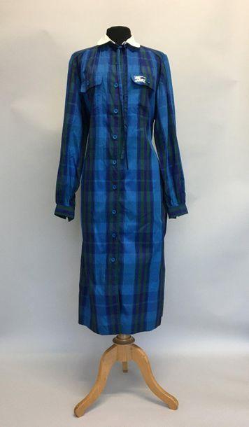 BURBERRYS Robe blouse avec ceinture en coton...