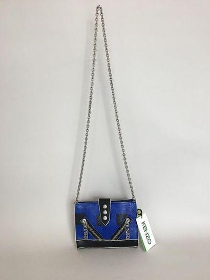 KENZO Kalifornia Mini Tote Bag en cuir bleu...