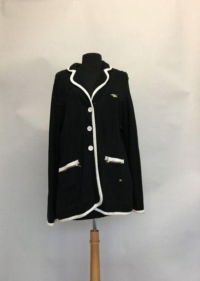 SONIA RYKIEL Paris Veste en jersey noir gansée...