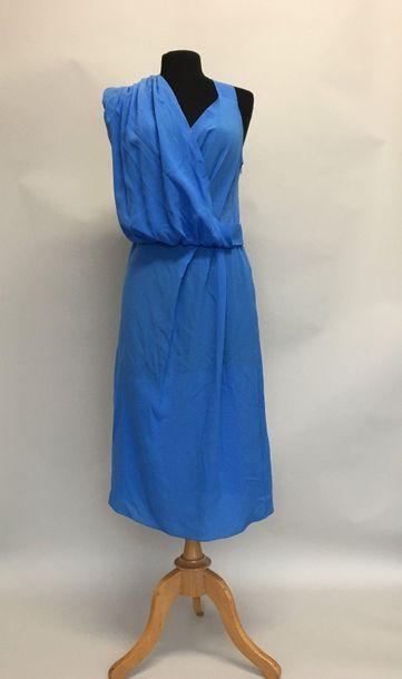 VIONNET Paris Robe en soie bleue Taille ...