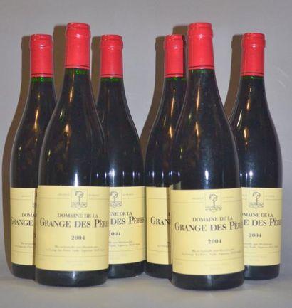 6 Bouteilles GRANGE DES PERES ROUGE. 2004...