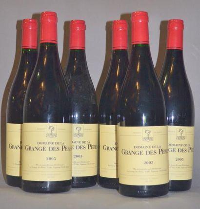 6 Bouteilles GRANGE DES PERES ROUGE. 2005...