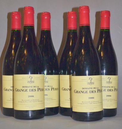 6 Bouteilles GRANGE DES PERES ROUGE. 2006...