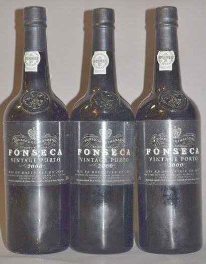 3 Bouteilles PORTO FONSECA. 2000