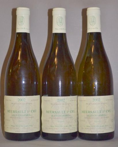 3 Bouteilles MEURSAULT LES CHARMES - M.COLIN....