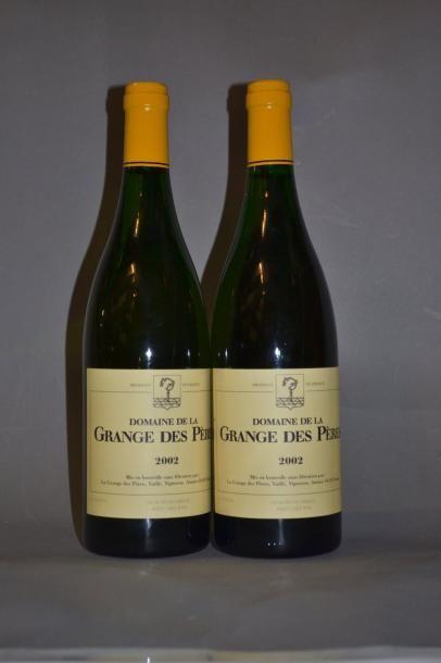 2 Bouteilles GRANGE DES PERES BLANC. 2002...