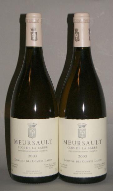 2 Bouteilles MEURSAULT