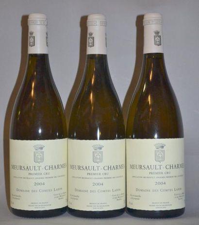 3 Bouteilles MEURSAULT CHARMES - COMTES LAFON....