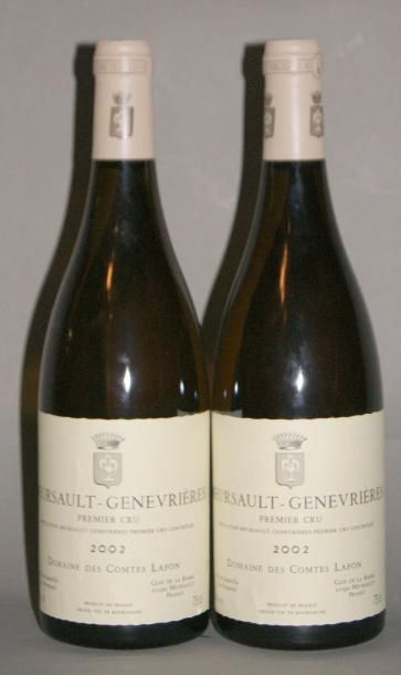 2 Bouteilles MEURSAULT GENEVRIERES - COMTES...