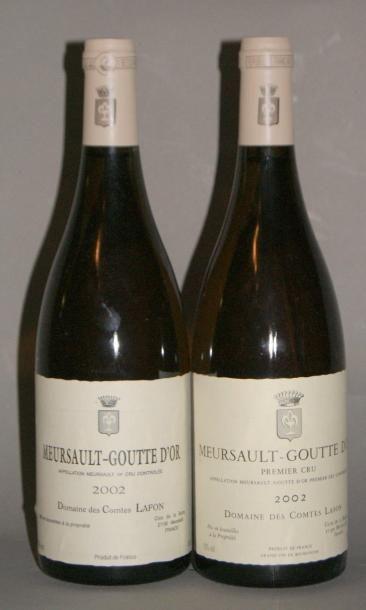 2 Bouteilles MEURSAULT GOUTTE D'OR - COMTES...