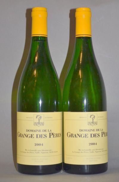 2 Bouteilles GRANGE DES PERES BLANC. 2004...