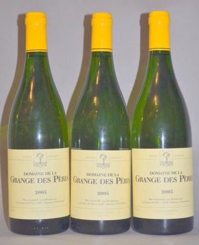 3 Bouteilles GRANGE DES PERES BLANC. 2005...