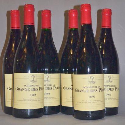 6 Bouteilles GRANGE DES PERES ROUGE. 2002...