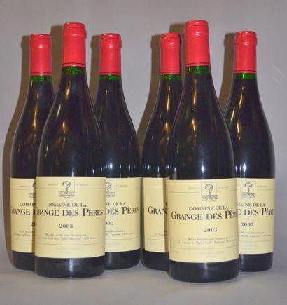 6 Bouteilles GRANGE DES PERES ROUGE. 2003...
