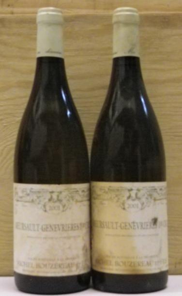 2 Bouteilles MEURSAULT GENEVRIERES - BOUZEREAU....