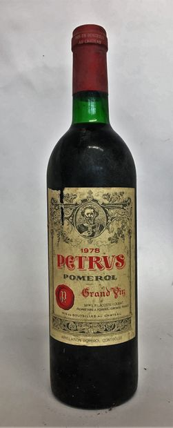1 bouteille PETRUS 1978 Etiquette légèrement...