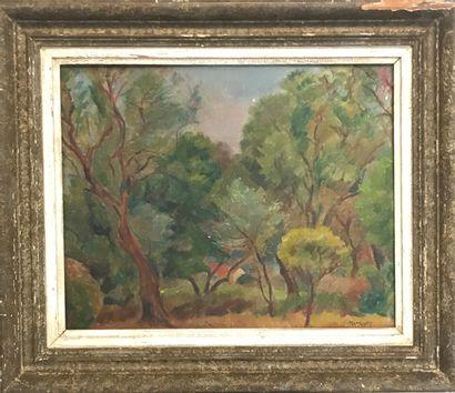 MENDJIZKY Maurice (1890 - 1951)  Chemin provençal...