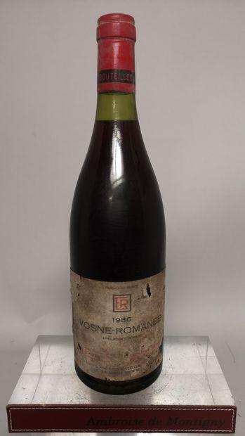 1 bouteille VOSNE ROMANEE - Domaine René...