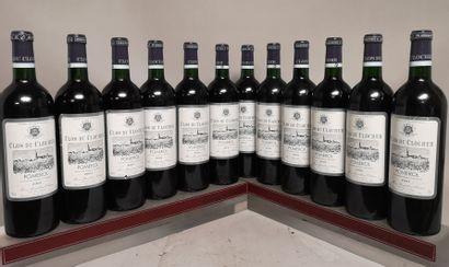 12 bouteilles CLOS DU CLOCHER - Pomerol 2001...