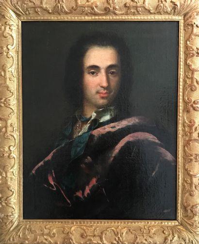 Ecole française du XVIII° Portrait d'homme...