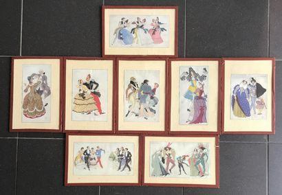 D'après SERGE IVANOFF Lot de 8 reproductions...