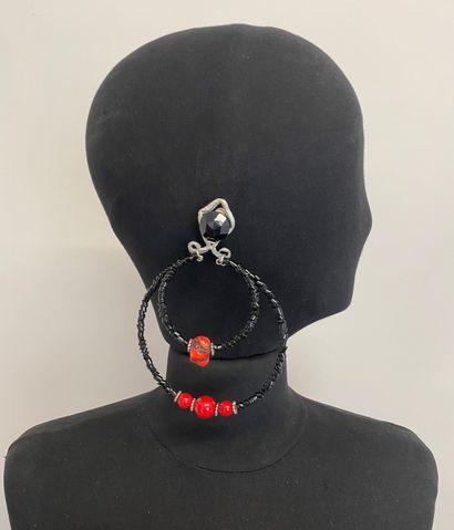 Paire de clips d'oreilles ruban en métal...