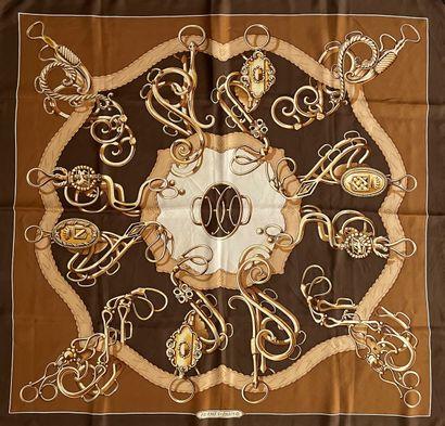 HERMES Profilé par Guillemot carré en soie...