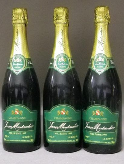 3 BOUTEILLES CHAMPAGNE JEAN MOUTARDIER 1993...